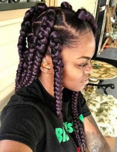 Lavender Triangle Box Braid