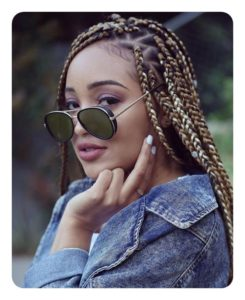 Lemonade shade triangle box braid