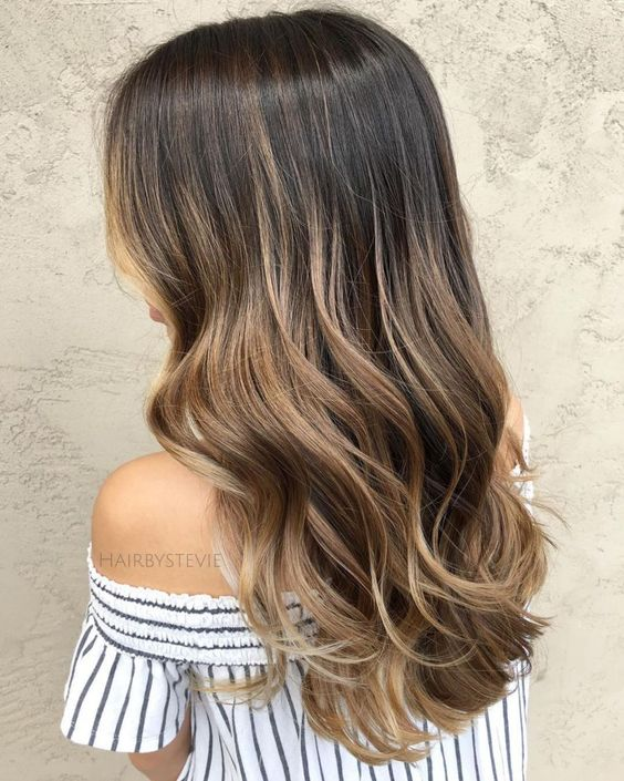 Natural Light Brown Balayage