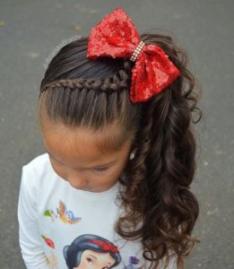 Braided Headband and Side Ponytail