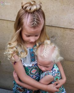 Mini Braids and Top Knot