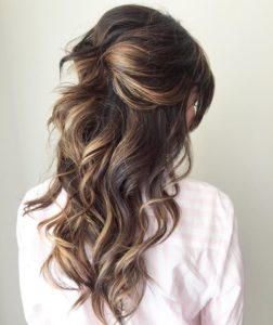 Pinned Updo with Big Bouncy Curls