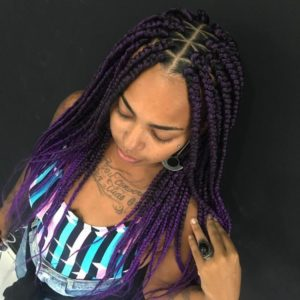 Purple Rain Triangle Box Braid