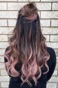 Brunette with Rose Pink Tips