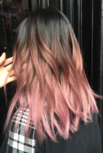 Dark Chocolate to Rose Ombre
