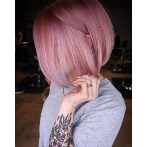 Dusty Blush Pink Bob