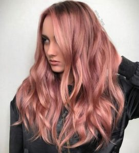 Dusty Rose Gold Waves