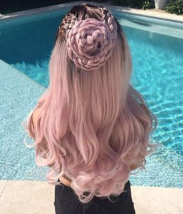 Dusty Rose Pink with Intricate Braids