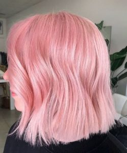 Lovely Bubblegum Pink Lob