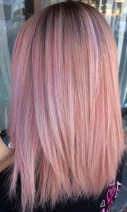 Peach and Rose Pink Hair
