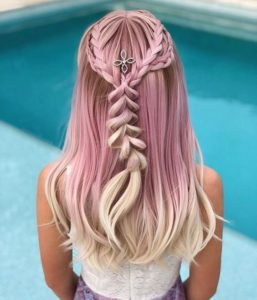 Pink Hair With Platinum Tips