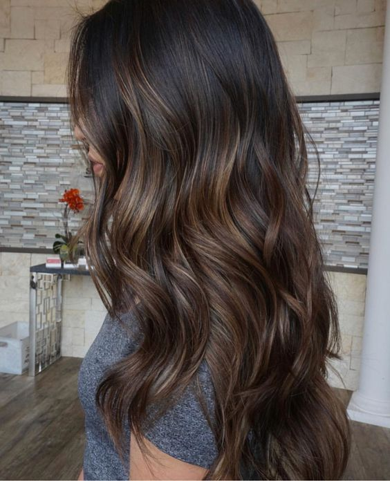 Subtle Balayage on Dark Brown