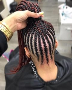 black and red lemonade braids
