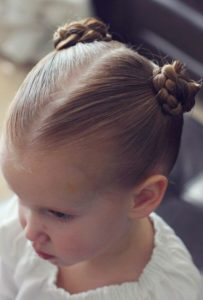 braided pigtail buns