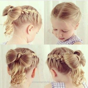 double french braid hair bow