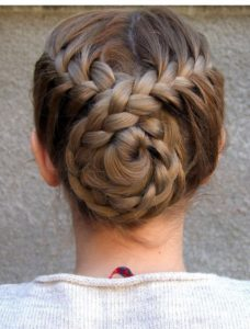 crisscross bun french braid