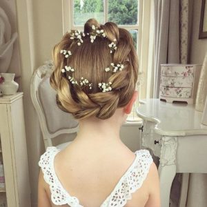hair crown with flowers