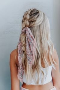 half up braid on braid