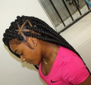 large triangle box braids