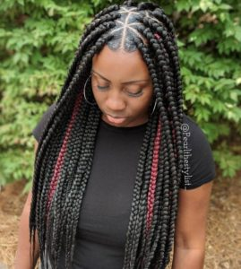 minimal highlights triangle box braid
