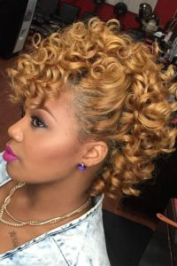 Blonde Frohawk Perm Rod