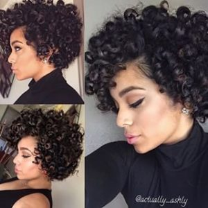 short curls croshey hair