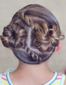 rope twist hair buns