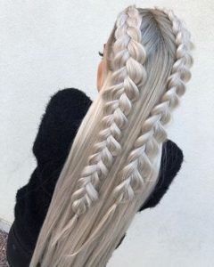 two half fishtail braids