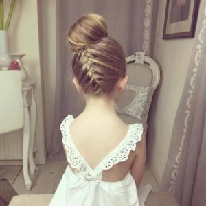upsidedown braid with big bun