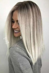 Ash Blonde Hair and Toasted Coconut Ombre