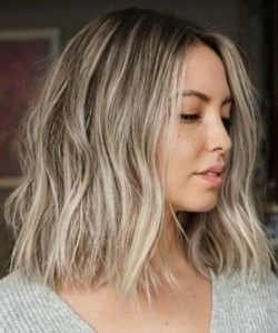 Beachy Ash Blonde Lob