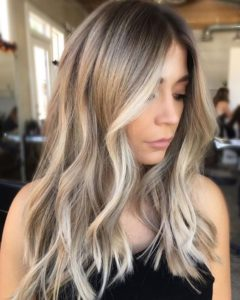 Dark Ash Blonde Hair With Icy Highlights