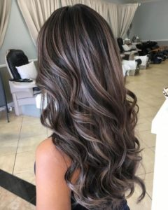 Dark Ashy Hair with Ash Blonde Highlights