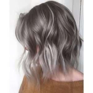 Short Ash Blonde Ombre