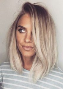 Warm Ash Blonde with Platinum Highlights