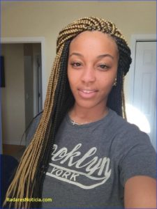 Blonde front crochet box braids