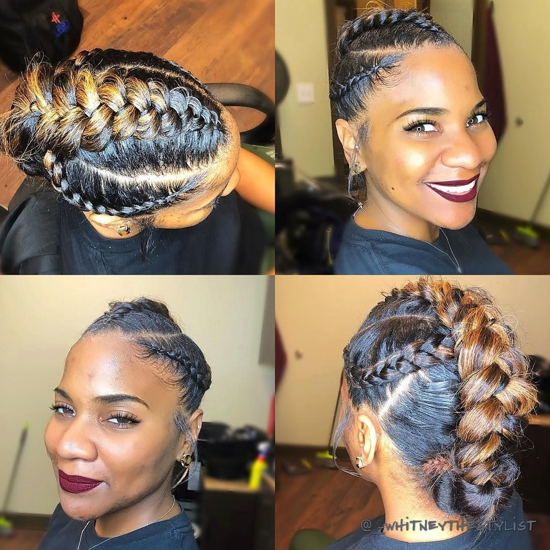 35 Natural Braided Hairstyles Without Weave For Black Girls