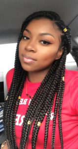 Crochet box braid with hair cuff