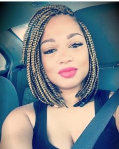 Crochet box braids in a bob