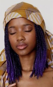Crochet box braids with scarf
