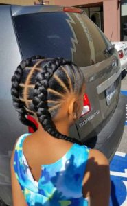Feed in boxer braids for girls