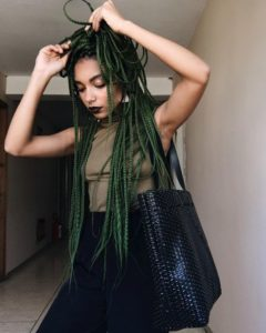 Green Crochet Box Braids