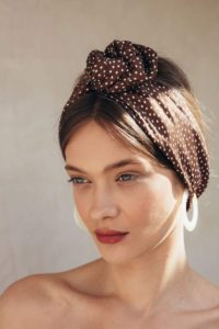 60s-Inspired Polka Dot Headband