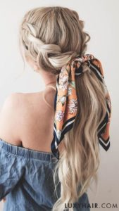 Braids Ponytail and Headscarf