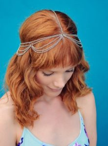 Delicate Chain Headband with Waves