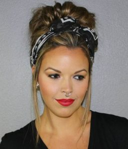 Edgy Updo With Headscarf