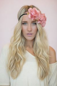 Festival Floral Headband and Soft Waves