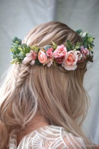 Floral Headband with Mini Braid