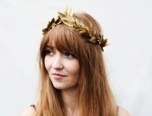 Interesting Gold Leaf Headband