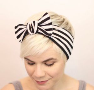 Pixie Haircut with Bow Headband